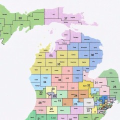 senate rep state of michigan map