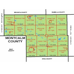 Montcalm county map with Townships
