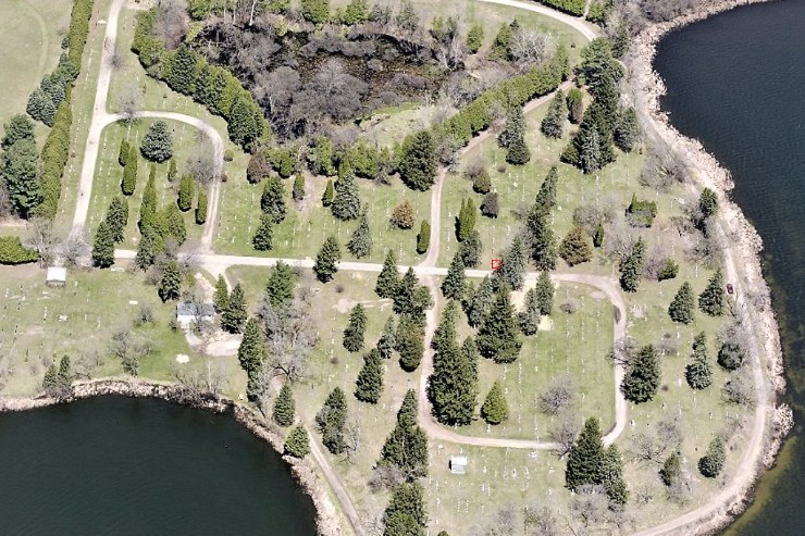 Ariel view of Lakeview Cemetery